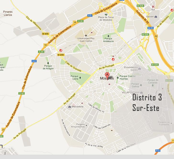 distrito 3 sur este