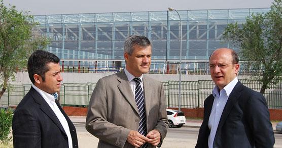 David Lucas visita obra Pabellon Andres Torrejon