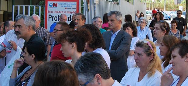 David Lucas concentracion trabajadores hospital mostoles_3