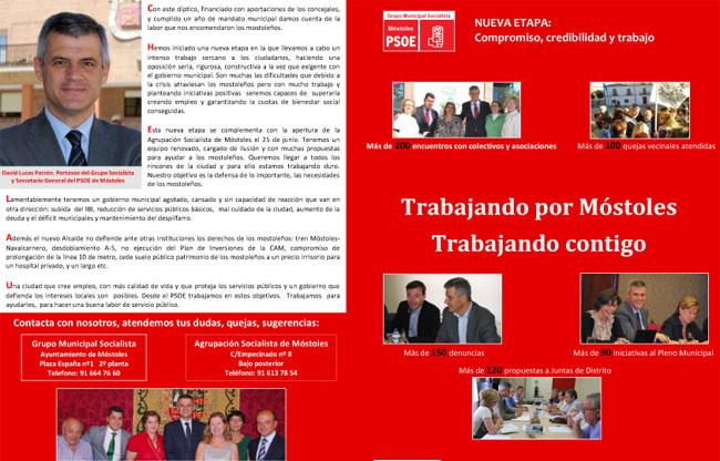 Diptico PSOE Mostoles foto