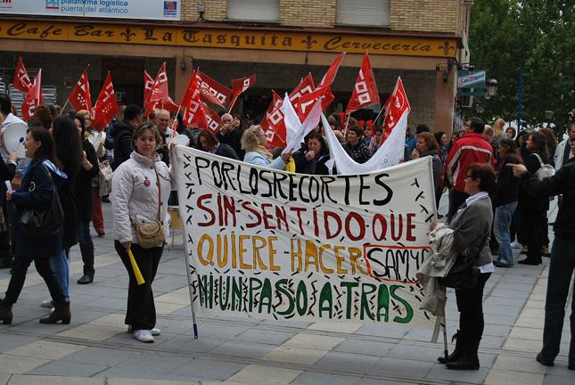 manifestacion trabajadoras limpieza mostoles