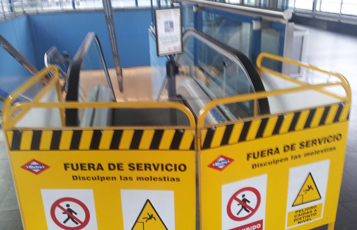 metro pradilla escaleras
