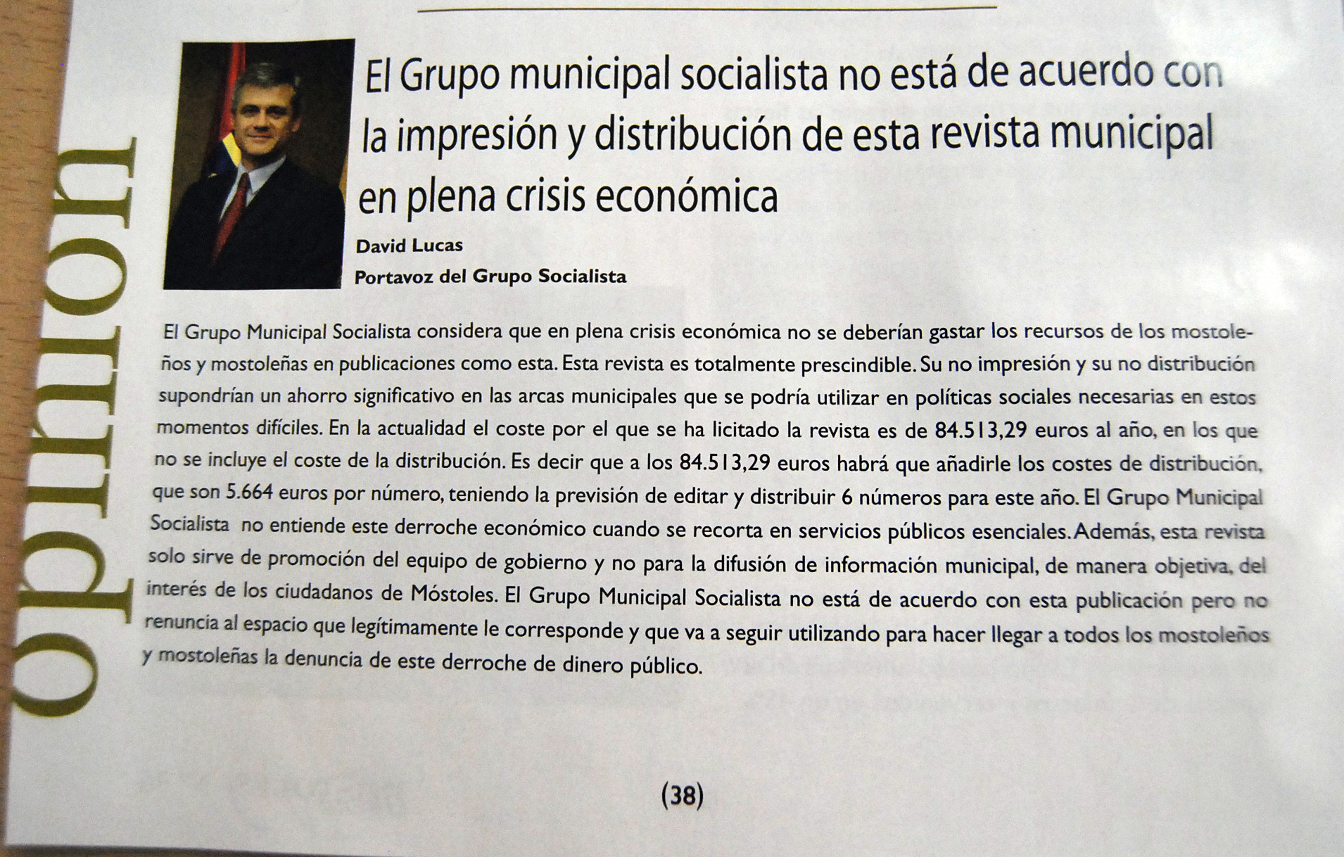 David Lucas revista municipal