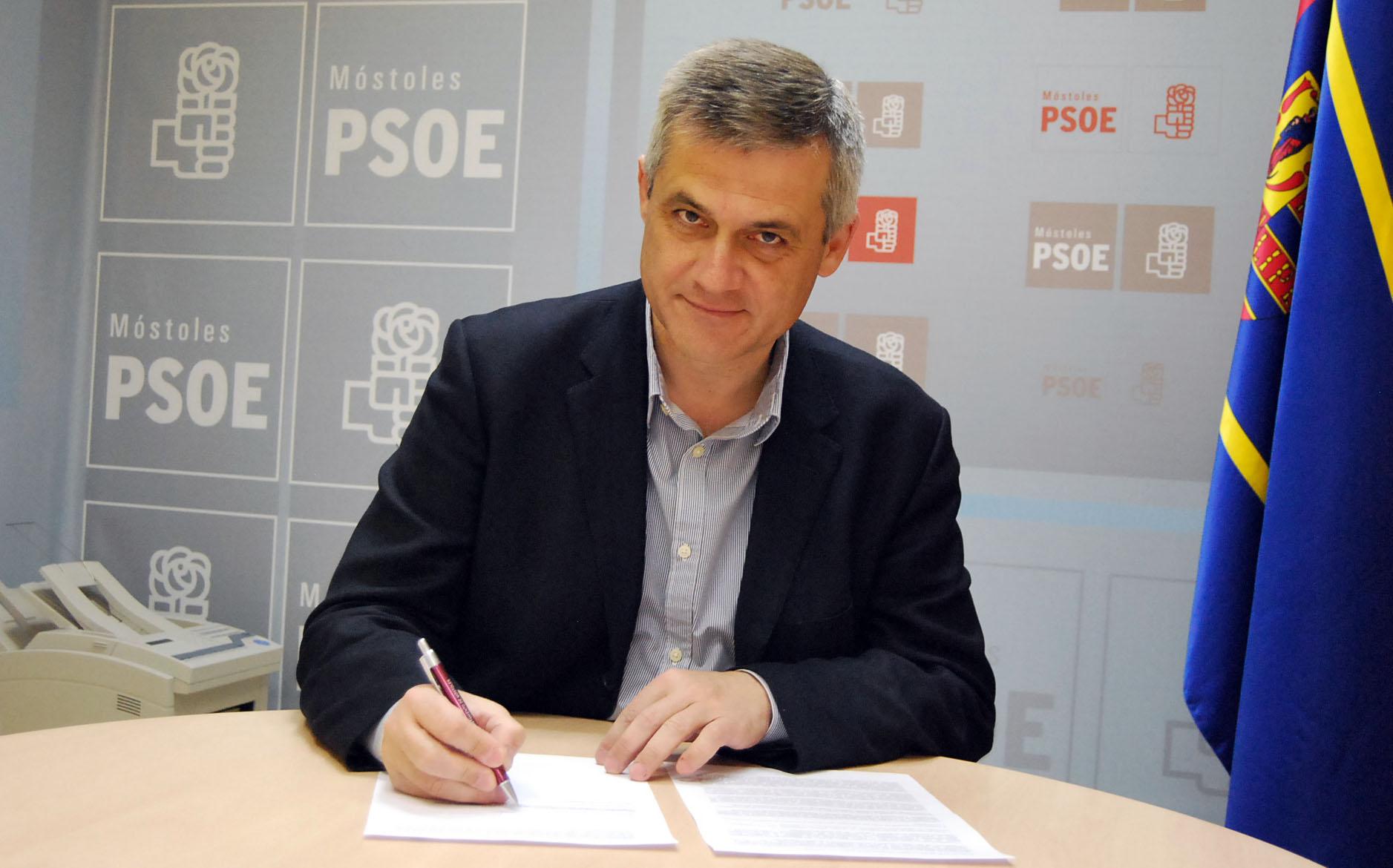 David Lucas firma decálogo de buen gobierno Ciudad de Móstoles